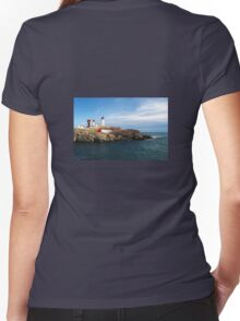 At the Nubble Women's Fitted V-Neck T-Shirt