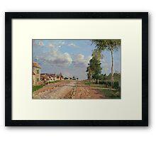 Camille Pissarro - Route de Versailles, Rocquencourt 1871 French Impressionism Landscape Framed Print
