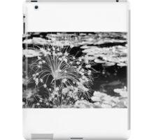 Black and White Monet Flower iPad Case/Skin