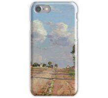 Camille Pissarro - Route de Versailles, Rocquencourt 1871 French Impressionism Landscape iPhone Case/Skin