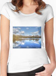 Lake Reflections HDR Women's Fitted Scoop T-Shirt