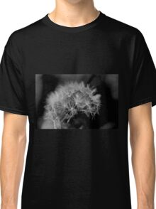Macro Dandelion Black and White  Classic T-Shirt