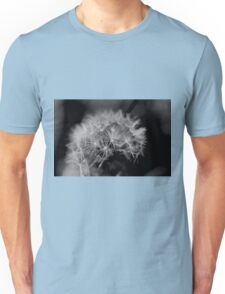 Macro Dandelion Black and White  Unisex T-Shirt