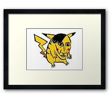 WORST PIKACHU EVER Framed Print