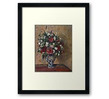 Camille Pissarro - Still life with peonies and mock orange 1872 - 1877 French Impressionism Landscape Framed Print