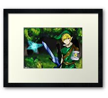 Legend of Zelda Link and Navi Framed Print