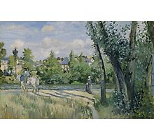 Camille Pissarro - Sunlight on the Road, Pontoise 1874 French Impressionism Landscape Photographic Print