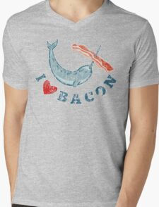 I Love Bacon Mens V-Neck T-Shirt