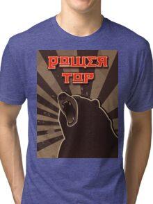 Power Top Bear Tri-blend T-Shirt