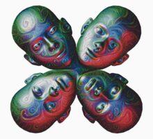 #DeepDream Masks - Heads 5x5K v1455792443 One Piece - Short Sleeve