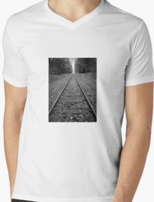 Railroad Mens V-Neck T-Shirt