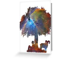 Resting in the Nebula. Greeting Card