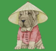 Shar Pei on The Great Wall Kids Tee