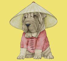 Shar Pei on The Great Wall Kids Tee