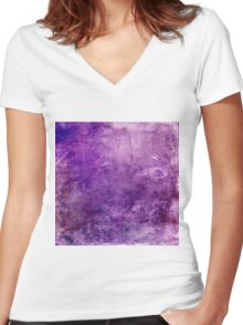 Purple Design Women's Fitted V-Neck T-Shirt