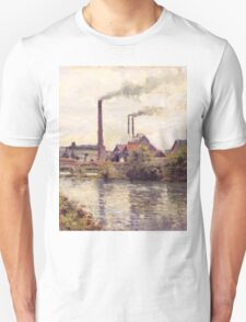 Camille Pissarro - The Factory at Pontoise 1873 Landscape French Impressionism Landscape Unisex T-Shirt