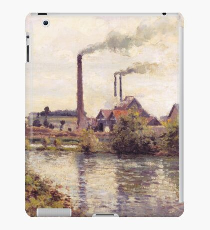 Camille Pissarro - The Factory at Pontoise 1873 Landscape French Impressionism Landscape iPad Case/Skin