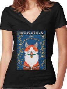 Murdock The Marvelous Women's Fitted V-Neck T-Shirt
