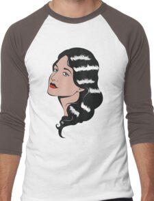 Girl in Pop Art style Men's Baseball ¾ T-Shirt