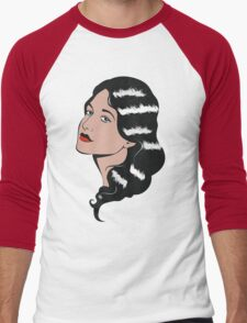 Girl in Pop Art style Men's Baseball ¾ T-Shirt