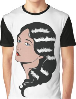 Girl in Pop Art style Graphic T-Shirt