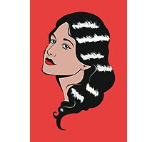 Girl in Pop Art style Photographic Print