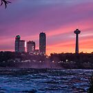 Sunset at the Falls by PhotosByHealy