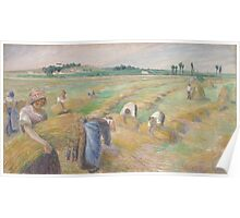 Camille Pissarro - The Harvest 1882 American Landscape French Impressionism Landscape Poster