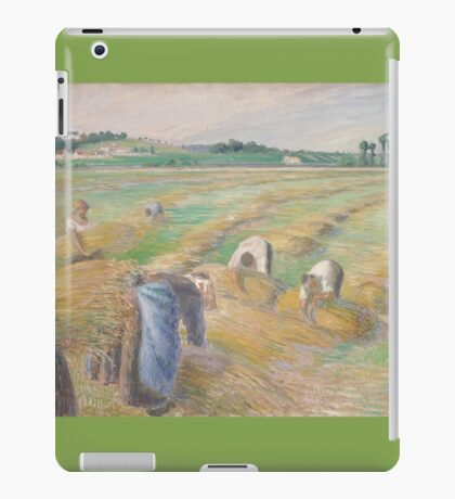 Camille Pissarro - The Harvest 1882 American Landscape French Impressionism Landscape iPad Case/Skin