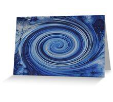 Fast Blue Swirl Greeting Card