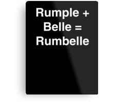 Rumple + Belle = Rumbelle Metal Print