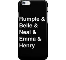 Rumple & Belle & Neal & Emma & Henry iPhone Case/Skin