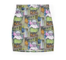 Mrs. Tiggywinkle Hedgehog: Hanging up the Wash: After Beatrix Potter Mini Skirt