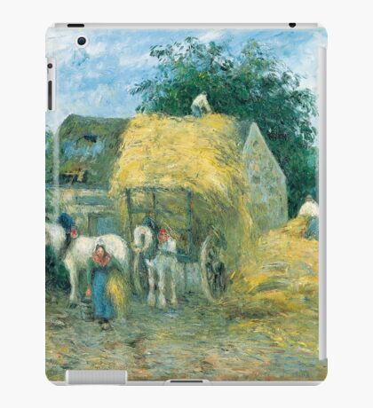 Camille Pissarro - The Hay Cart, Montfoucault 1879 American Landscape French Impressionism Landscape iPad Case/Skin