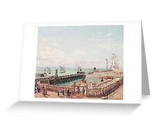Camille Pissarro - The Jetty at Le Havre, High Tide, Morning Sun 1903 French Impressionism Seascape Marine Greeting Card