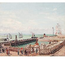 Camille Pissarro - The Jetty at Le Havre, High Tide, Morning Sun 1903 French Impressionism Seascape Marine Photographic Print