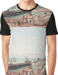 Camille Pissarro - The Jetty at Le Havre, High Tide, Morning Sun 1903 French Impressionism Seascape Marine Graphic T-Shirt
