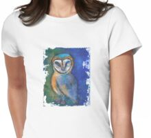 Nite Owl - white Womens Fitted T-Shirt