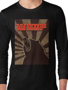 woof. Russian bear. Long Sleeve T-Shirt