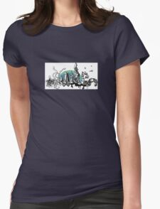 Geometric cityscape/ landscape Womens Fitted T-Shirt