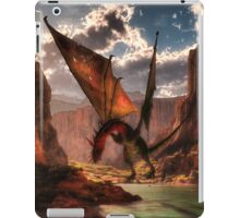 Fantasy dragon in the mountains iPad Case/Skin