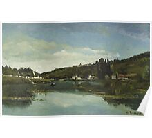 Camille Pissarro - The Marne at Chennevieres 1864  French Impressionism Landscape Poster