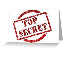 Top Secret - Stamp Greeting Card