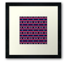 Stripes and other shapes pattern Framed Print