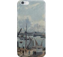 Camille Pissarro - The Outer Harbour of Le Havre, Morning, Sun, Tide 1902 iPhone Case/Skin