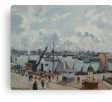 Camille Pissarro - The Outer Harbour of Le Havre, Morning, Sun, Tide 1902  French Impressionism Landscape Canvas Print