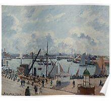 Camille Pissarro - The Outer Harbour of Le Havre, Morning, Sun, Tide 1902  French Impressionism Landscape Poster
