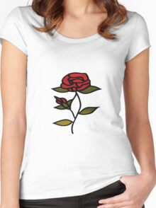 the rose Women's Fitted Scoop T-Shirt