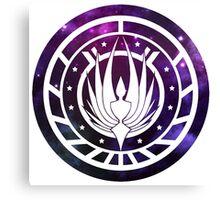 Battlestar Galactica Colonial Seal Purple Canvas Print