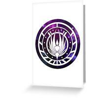 Battlestar Galactica Colonial Seal Purple Greeting Card